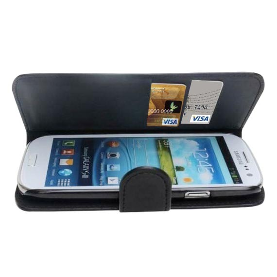 Water Resistant Leather Wallet Case for Samsung Galaxy S3 i9300
