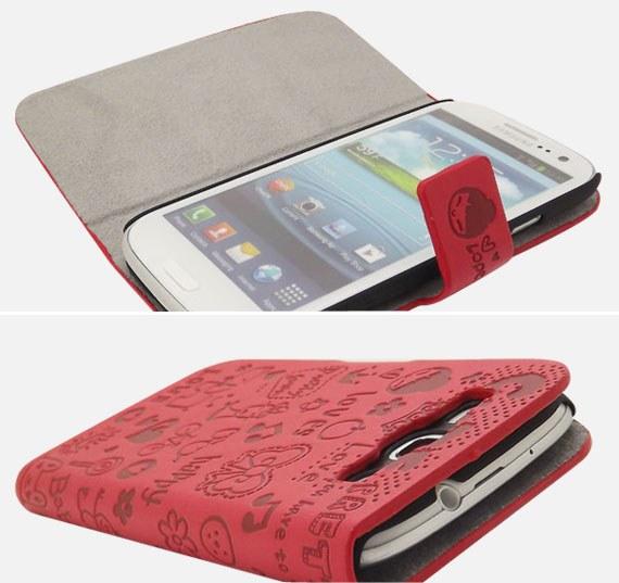 Samsung Galaxy S3 i9300  Korean Style Cartoon Flip Case