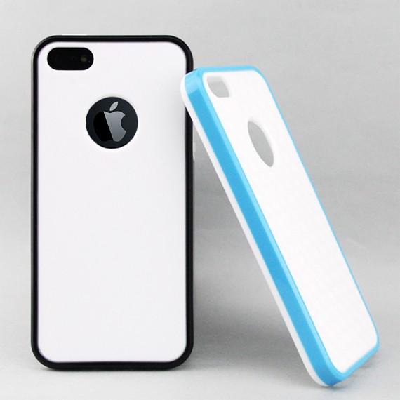 iPhone 5 White Fantasy Carbon Fibre Patterned Slip-on Case