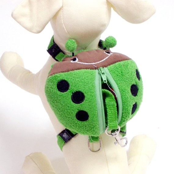 Plush Ladybug Puppy Light Backpack with Matching Leash