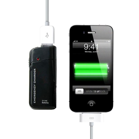 AA Battery Emergency USB Charger