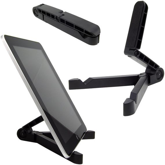 Portable Fold-Up Stand for Apple iPad, Galaxy Tab, BlackBerry Play Book