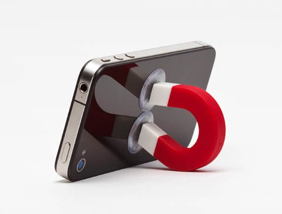 Magnet Shaped Stand for iPhone , IPod, Samsung, HTC, Sony, Nokia