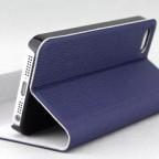 iPhone 5/5S Wood Skin Texture Book Type Flip Case
