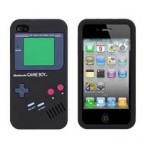 Game Boy Series Silicone Rubber Case for iPhone 4