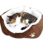 Paw Print Super Soft Pet Bed