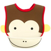 Baby Animal Bib with Food Catcher Pocket
