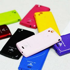 Glittering Vivid Colours Silicon Case for Xperia LT15i / LT18i / X12