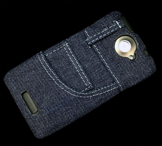 Denim Pouch Case for HTC One X