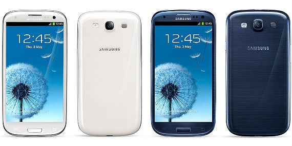Samsung Galaxy S III GT-I9300 Unlocked GSM Phone with Clear Screen Protector Set