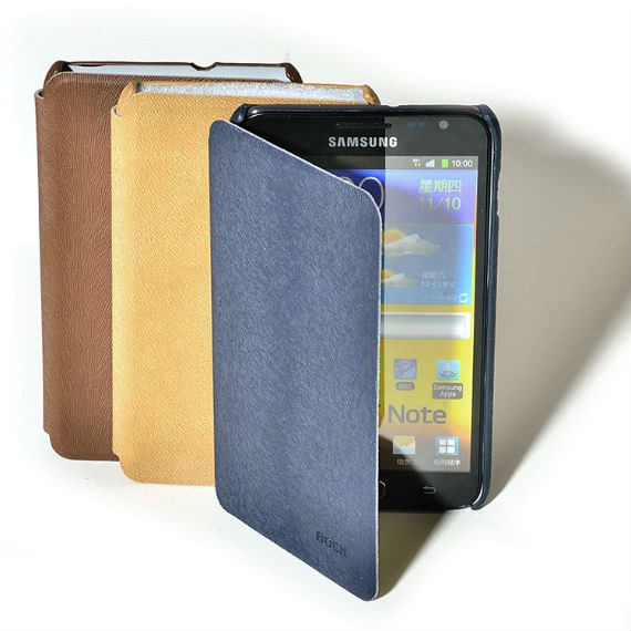 Samsung Galaxy Note i9220 Leather Side Flip Case