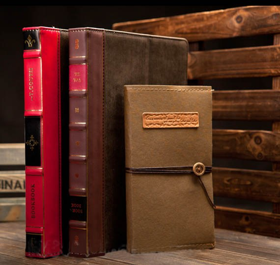 Retro Book Leather Case with Multi-Angle Stand for The new iPad / iPad2