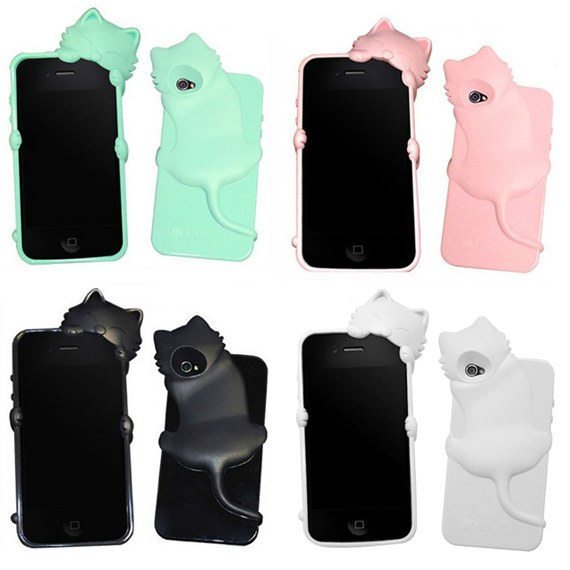 3D Kitten Case for iPhone4/ 4S