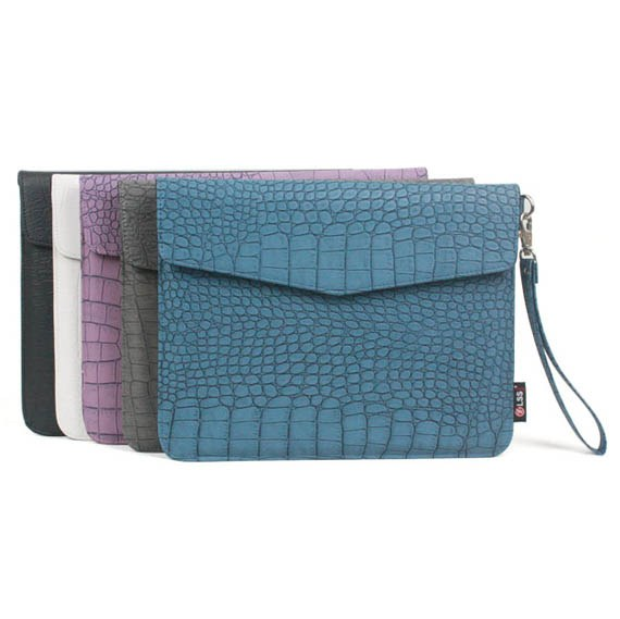 Crocodile Leather Pouch Bag for The new iPad/ iPad2