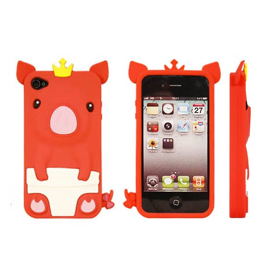 Piggy Silicon Case for iPhone 4/4S