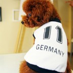 UEFA Germany Number 11 Doggy Football Jersey