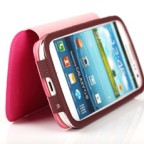 Rainbow Colours Textured Leather Flip Case with Card Slots for Samsung Galaxy S3 i9300
