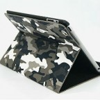 Military Camouflage Leather Folio Case for the New iPad