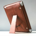 Leather Case with Stand and a Detachable Cover for iPad 2