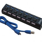 Hot USB 3.0 Hub 7 Port 5Gbps High Super Speed Adapter Cable Switch For Laptop PC