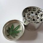 """NEW 2"""" 4pc Leaf Design Metal Herb Spice Tobacco Grinder Crusher"""