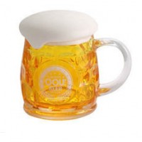 Beer Mug with Bubble Lid