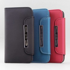 iPhone 5 Metallic Buckle Wallet Case