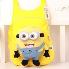 Cute Kids Toddler Children Despicable Me Minion Doll Cartoon School Bag Backpack