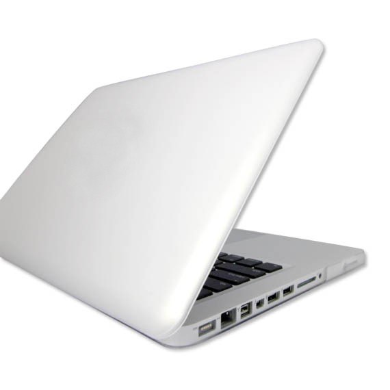 White Macbook Cover ~ Incase hardshell hard case for aluminum unibody macbook