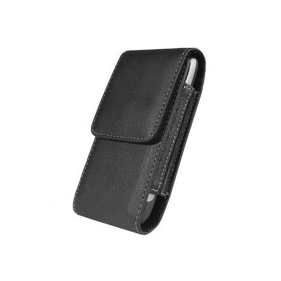 Samsung Galaxy S3 / S4 Black Leather Sleeve Case with Belt Clip