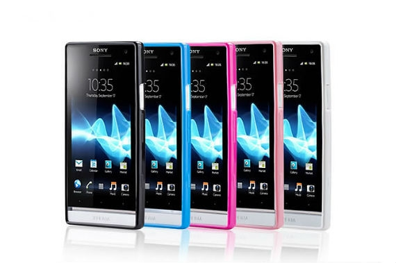 Xperia S LT26i Transparent Back Case with Coloured Edges