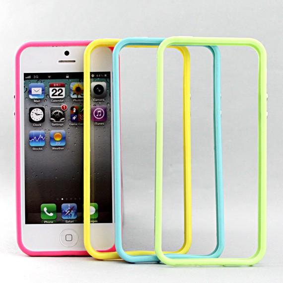 iPhone 5 Colour Rubber Edge Bumper Case