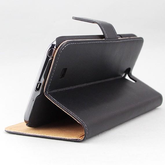 """Galaxy Note II 5.5"""" Premier Leather Wallet Case"""