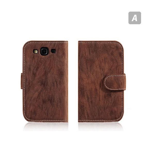 Galaxy S3 Fine Wood Grain Inspired Wallet Case