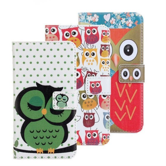 PU Leather Flip with Card Holder Case Cover for Samsung Galaxy S5
