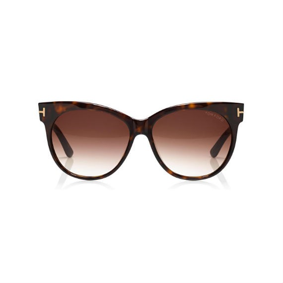 TOM FORD SASKIA SOFT CAT-EYE SUNGLASSES