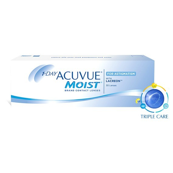 12 x 30 Lenses Acuvue 1 Day Moist for Astigmatism - Daily Wear