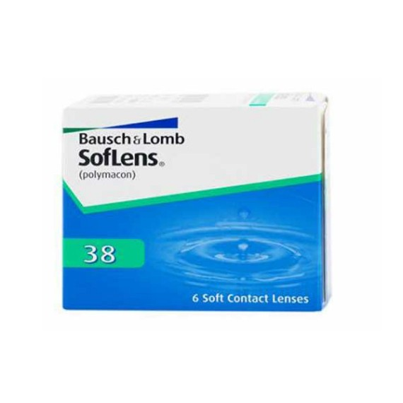 12 x 6 Lenses Bausch & Lomb Soflens  38 Monthly Wear
