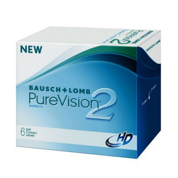 Bausch & Lomb Pure Vision 2 HD - Monthly Wear - 6 Lenses