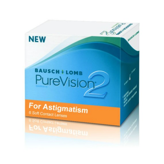 6 x 6 Lenses Bausch & Lomb Pure Vision 2 HD for Astigmatism- Monthly Wear