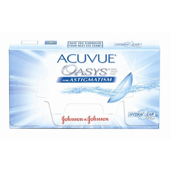 6 x 6 Lenses Acuvue Oasys for Astigmatism  Bi- Weekly Wear