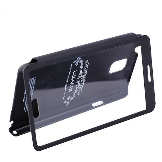Touch Leather Clear Flip Case Cover Stand for Samsung Galaxy Note3 N9000