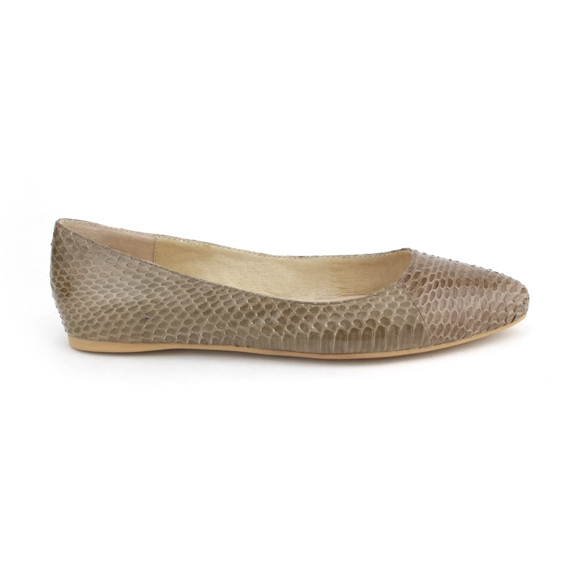 Women Snake Skin Flats Shoes