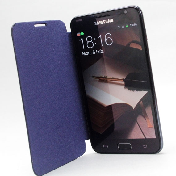 Galaxy Note i9200/ N7000 Leather Flip Cover
