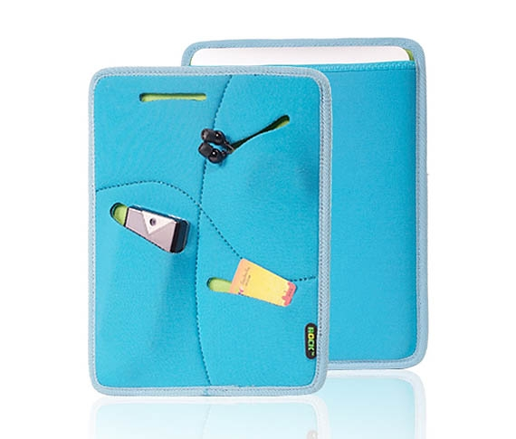 Multifunctional Waterproof  Neoprene Sleeve for The new iPad/ iPad2