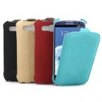 Samsung Galaxy S3 i9300 Textured Leather Flip Case