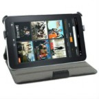 Black Leather Cover for Amazon Kindle Fire