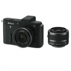 Nikon 1 V1 Digital Camera Kit With 1 NIKKOR VR 10-30mm f/3.5-5.6 n 10mm f/2.8 Zoom Lens