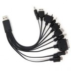 Portable 10 in 1 USB Cable for Multiple Universal Cell Phone