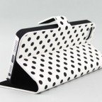 iPhone 5 Polka Dot Book Type Flip Case